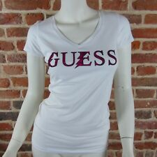 Tee shirt Guess manches courtes Femme W52I38 Blanc, Taille XS S M L