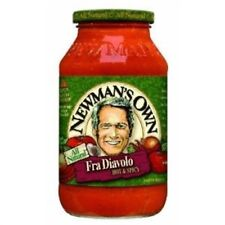 Newmans Own Pasta Sauce, Fra Diavolo, Hot & Spicy - 24 FL OZ (Pack 12)