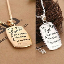 Charm Love Between A Mother and Daughter Pendant Necklace Mother's Day Gift