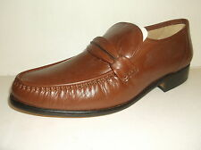 Thomas Blunt Shoes 'Boston' Gents Cognac Leather Hand Sewn True Moccasin Shoes.
