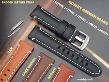 QUALITY PADDED LEATHER WATCH BAND STRAP FIT BREITLING 20mm 22mm 24mm 26mm