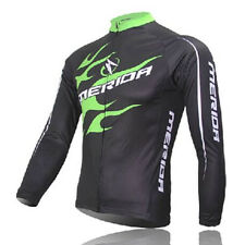 2016 Green Fire Cycling Jerseys Long Sleeve Bike Bicycle Biking Jersey Top