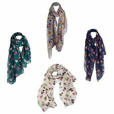 Women Fashion Dog Print Voile Long Shawl Scarf Wrap Summer Scarves