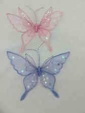 Glitter Sheer Medium Double Butterfly Hanging Decorations Room Party Girls