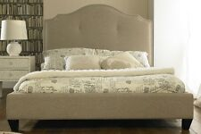 Stunning Luxury Hotel Style Valencia Fabric Bed - Beige - 4'6ft Mattress Option