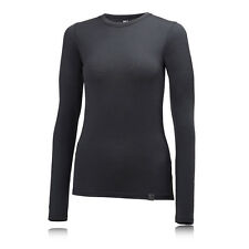 Helly Hansen HH Womens Black Merino Wool Long Sleeve Crew Neck Running Top