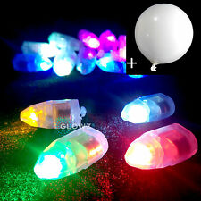 LED BALLOON LIGHT Multi Colour Glowing 10/20/50/100 pieces + FREE White Balloons
