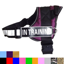 Non Pull SERVICE TRAINING Dog Harness Dog Vest Removable free 2 Magic Patches