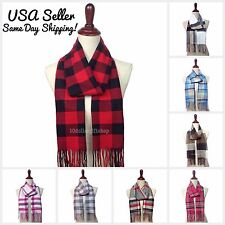 NEW Winter Warm Cashmere Feel Women's & Men's Scarf Plaid Checker Pashmina Wrap