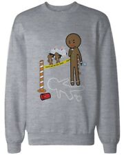 Gingerbread Cookie Investigating Funny Sweatshirt Cute Holiday Pullover Fleece