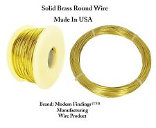 Brass Round Wire (Dead Soft ) 1/2 Lb. - Choose Gauge 12 To 26  / Spool or Coil