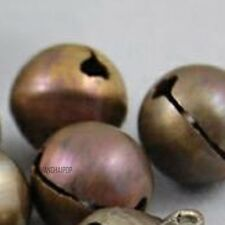 50 X Brass Jingle Bell for Ankle Chain Bracelet Charm Pendant Decor 8/10/12/14mm