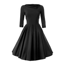 50'S STYLE ROCKABILLY PINUP SWING WRAP EVENING PARTY DRESS SIZES 6-20