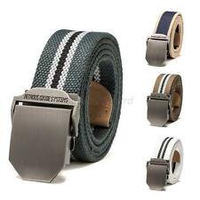 Multi-Color Stainless Steel Buckle Military Mens Waistband Sport Canvas Belt U16
