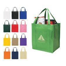 100 Reusable Grocery Shoppig Bags, Eco Friendly Bags sold in bulk lots Item 3031
