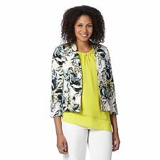 The Collection Womens Turquoise Tropical Print Blazer From Debenhams