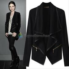 Fashion Womens Slim Casual Blazer Suit Lapel Cardigan Jacket Trench Coat Outwear