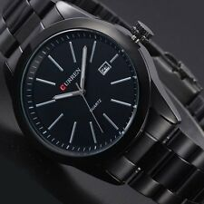Men's Watch Stainless Steel Band Date Analog Quartz Military Sport Wrist Watch