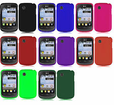 Car Charger + Hard Case Phone Cover Accessory for TRACFONE LG 306G LG306G