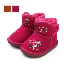 Cow Suede baby snow boots Winter baby boots girls boys Cute toddler ankle boots