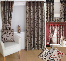 READY MADE RING TOP CURTAINS EYELET - CHEAP MATCHING CUSHION COVERS MODERN