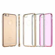 Ultra-thin Hybrid Metallic Soft TPU Back Cover Case for Apple iPhone 6 6s Plus