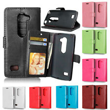Flip Leather Wallet Photo Card Holder Stand Case Cover For LG G2 G3 G4 LS770 C40