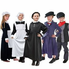 Kids Victorian Nanny Chimney Sweep Queen Victoria Parlour Maid Fancy Dress