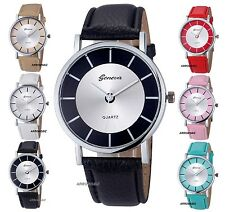 Ladies Fashion Retro Dial Leather Strap Analog Quartz Wrist Watch Watches Gift