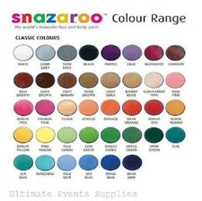 Snazaroo Face Paints 18ml Pots / Sponges HALLOWEEN COSTUME FACE Paints