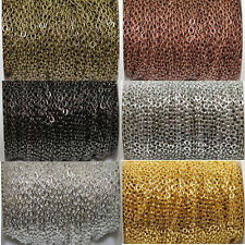 DIY 3x4mm Wholesale 1/5/100M Cable Open Link Iron Metal Chain Findings