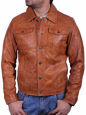 Mens Leather Biker Jacket Brand New With Tags 100% Real Leather Bomber Jacket