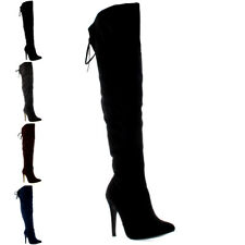 Womens Thigh Platform High Heels Stilettos Stretch Over The Knee Boots US 5-11