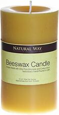 100% Pure Beeswax Pillar Candle 3x5''