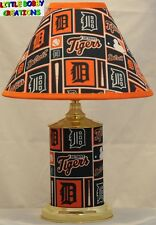 MLB DETROIT TIGERS MATCHING LAMP & SHADE SET! SHIPS WITHIN 24 TO 48 HOURS!