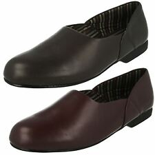 Mens Clarks Leather Slippers 'King Ross'