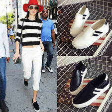 Fashion Comfort Women's Loafers Sneakers Slip On Casual Canvas Flats Loafers P98