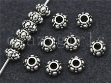20/100/500pcs Tibetan Silver Beautiful Circular Jewelry Charm Spacer Beads 6x4mm