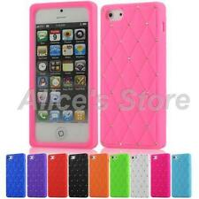 Bling Rhinestone Soft Silicone Back Case Cover Skin for Apple iphone 5 5G 5S UK