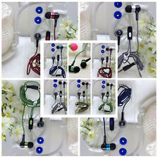 In-Ear Headphone 3.5mm Braided Bass Earbud Earphone With Mic For iPhone Samsung