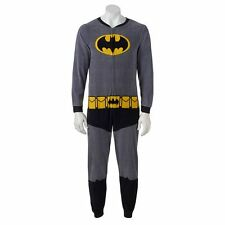 Batman Microfleece Unioin Suit with Cape Onesie Pajama Costume Loungewear