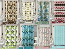 Printed 15-Piece Bathroom Set Bath Rugs Shower Curtain & Rings New Safari Flower