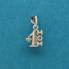 #1 Number One Mom 925 Sterling Silver Bracelet Mini Charm with Options 1718