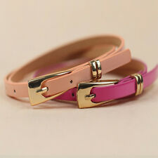 Slim Fashion Cute Colourf Woman Lady Girl Candy Colorful Skinny PU Leather Belts