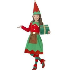 Girls Santa's Little Helper Elf Fancy Dress Costume Christmas Kids Outfit 39104