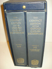 The Compact Edition of The Oxford English Dictionary 1985 Two-Volume Set HC
