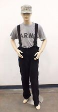 POLARTEC 200 BLACK FLEECE BIB OVERALLS GENUINE US MILITARY EXC **various sizes**