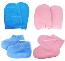 Pair Of New Paraffin Wax Hand Protection Spa Cotton Mitt Hand Gloves Manicure