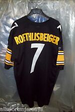 New Pittsburgh Steelers Ben Roethlisberger #7 HOME Authentic Reebok Jersey 56
