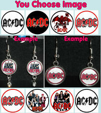 AC/DC Earrings You Choose Image & Style Rhinestone Acdc Acca Dacca Rock Band
